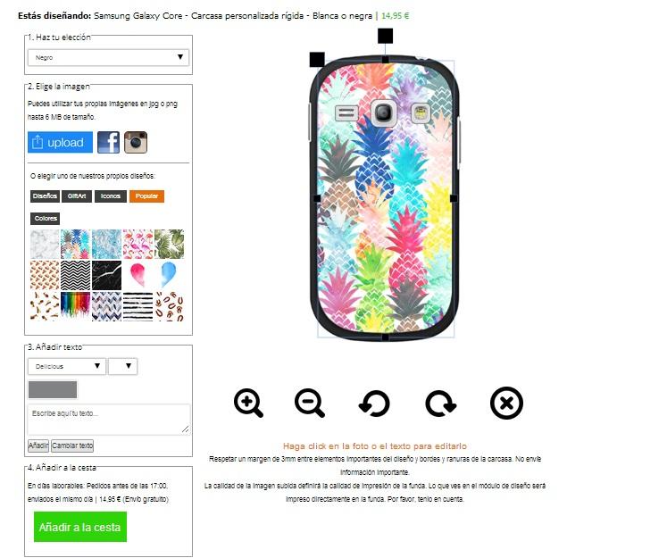 Gör ditt eget Samsung Galaxy Core skal