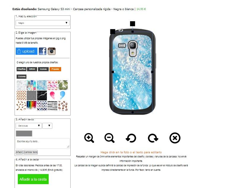 Gör ditt eget Samsung Galaxy S3 mini skal med foto