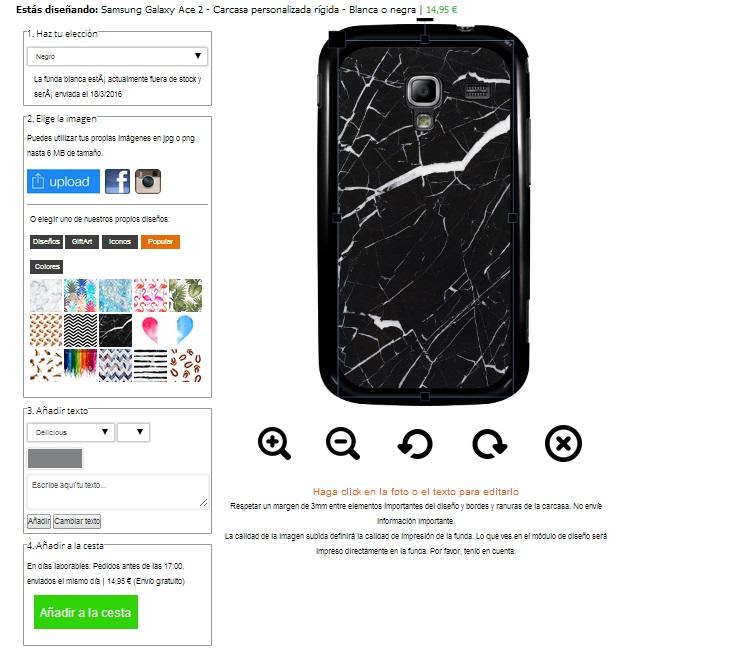 Gör ditt eget Samsung Galaxy Ace 2 skal med foto