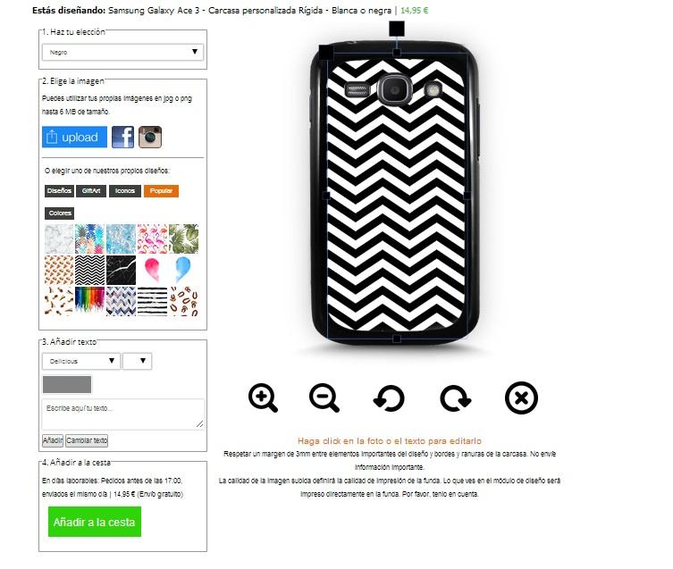 Gör ditt eget Samsung Galaxy Ace 3 skal med foto
