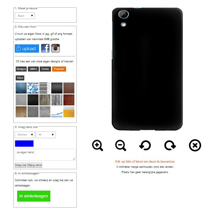 Gör ditt eget HTC Desire 820 skal med foto