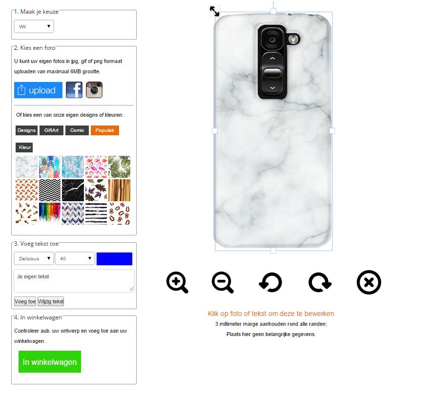 Gör ditt eget LG G2 Mini skal med foto