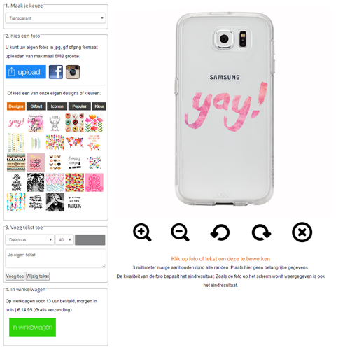 personalised Samsung Galaxy S7 case