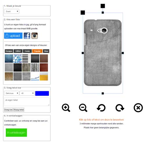 Gör ditt eget HTC One Mini 2 skal med foto