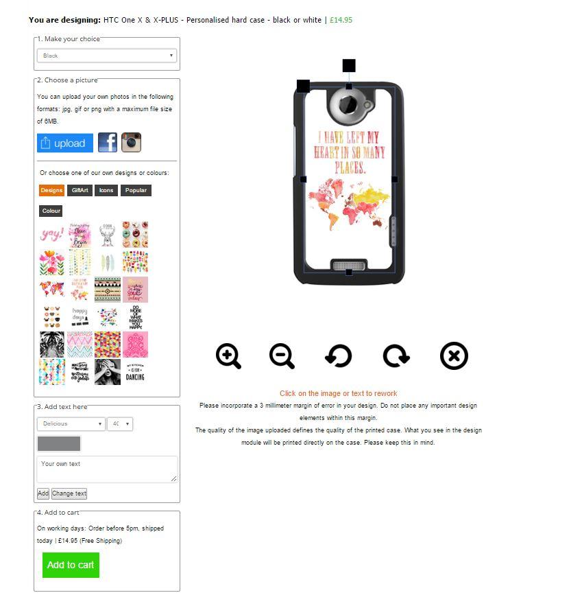 Gör ditt eget HTC One X-Plus skal med foto