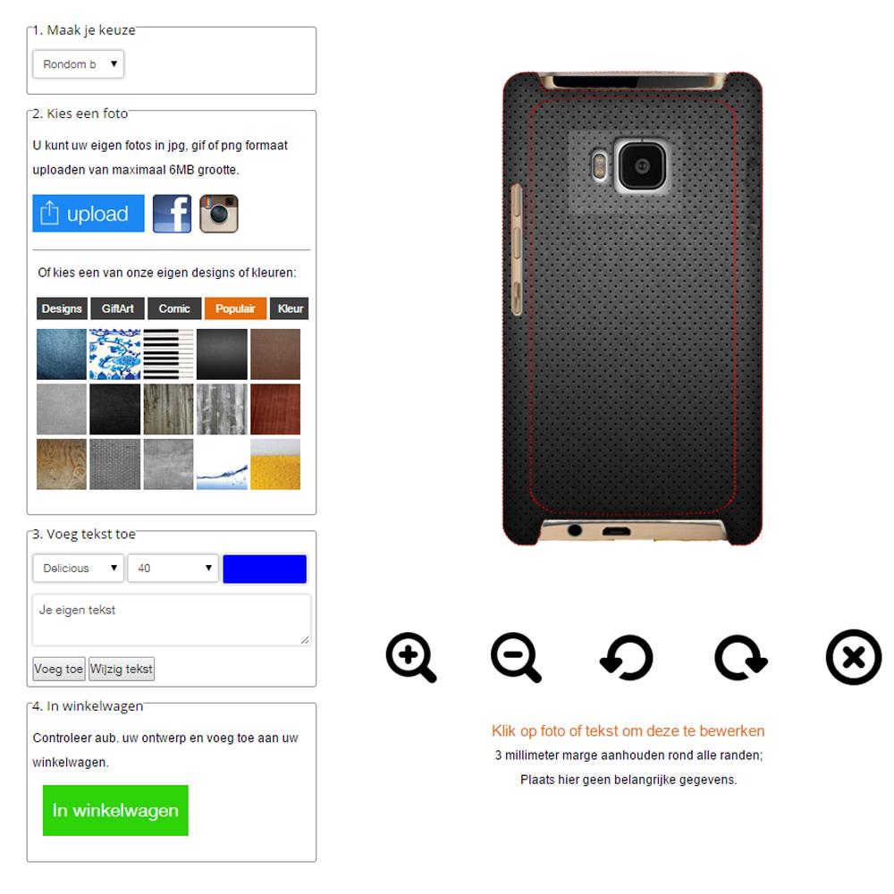 Gör ditt eget HTC One M9 skal med foto