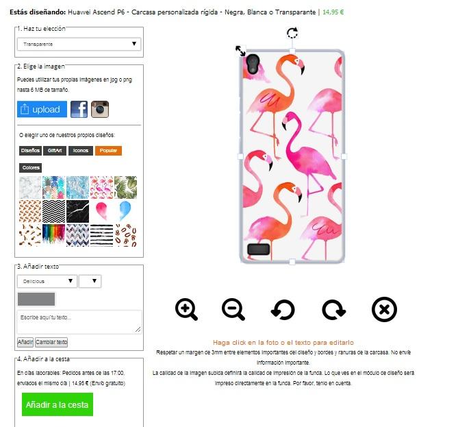 Huawei Ascend P6 Hårtskal Svart Vit eller Genomskinlig