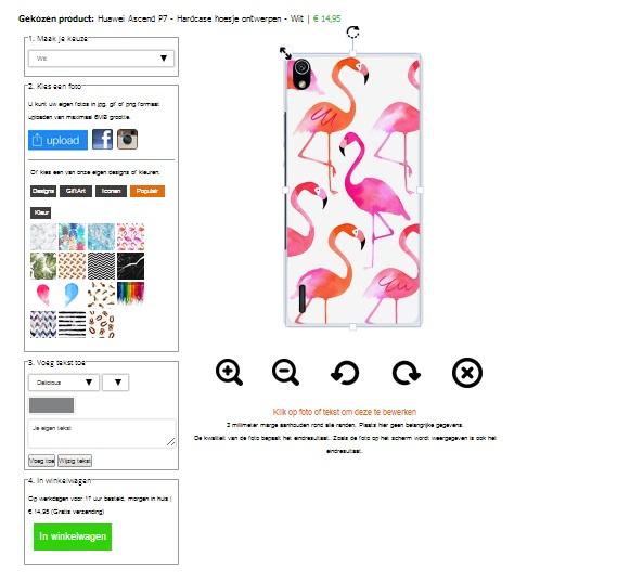 Huawei Ascend P7 hårda skal med foto