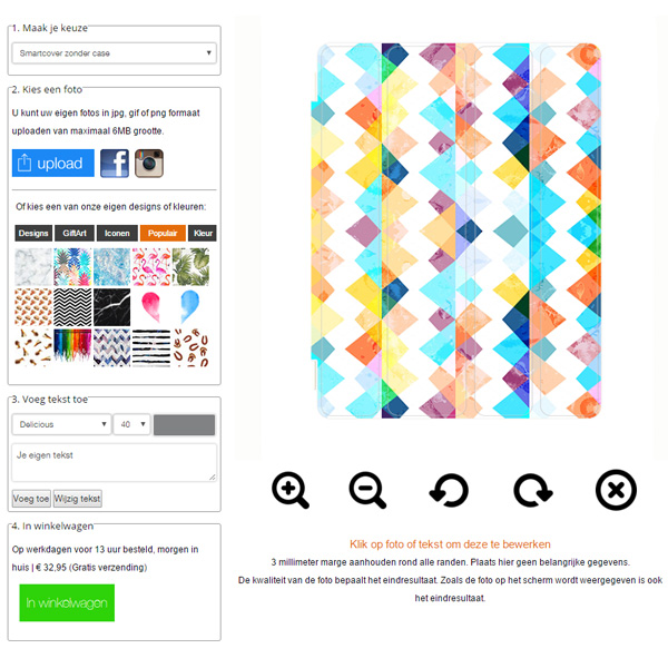 Designa eget iPad 2/3/4 fodral