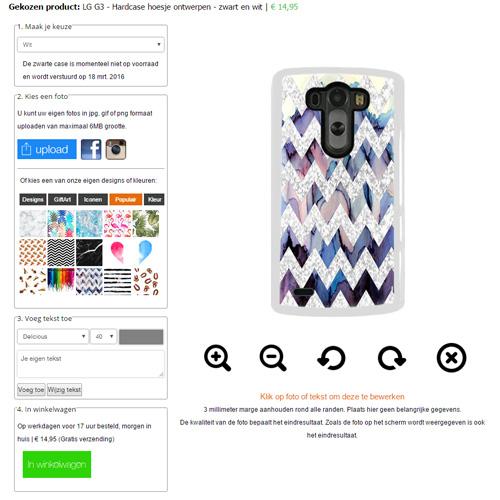 Gör ditt eget LG G3 skal med foto