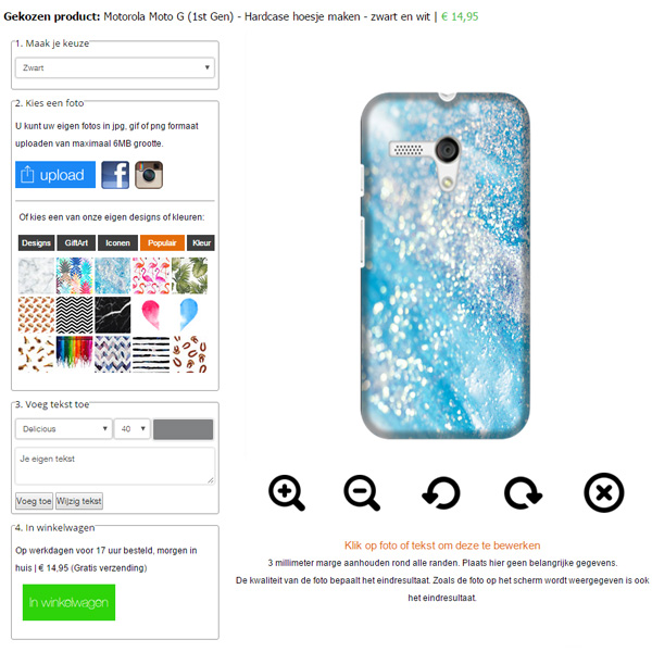 Gör ditt eget Motorola Moto G skal med foto