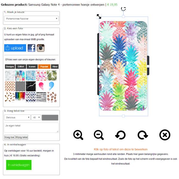 Gör ditt eget Samsung Galaxy Note 4 plånbosfodral