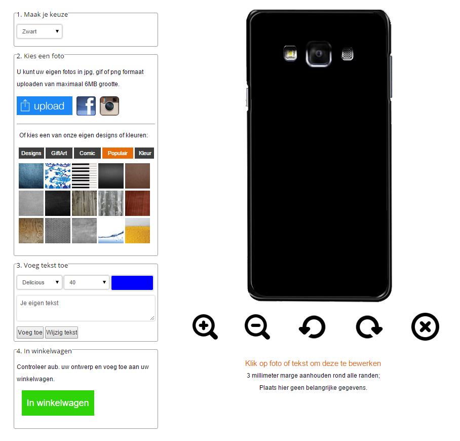 Gör ditt eget Samsung Galaxy A7 skal med foto