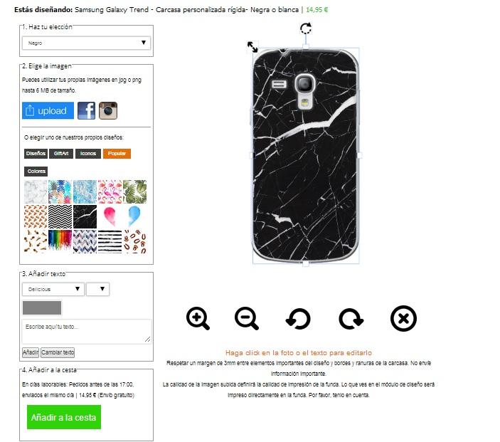 Gör ditt eget Samsung Galaxy Trend skal med foto